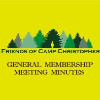 GENERAL MEMBERSHIP MEETING MINUTES